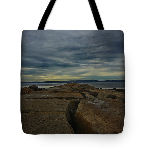 Walk To The Sea Tote Bag