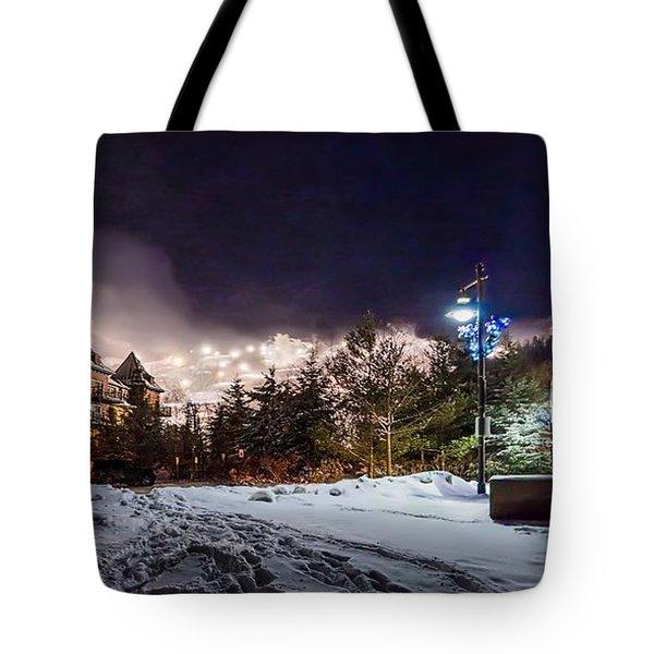 Walk To The Ski Hills Tote Bag by Jeff S PhotoArt