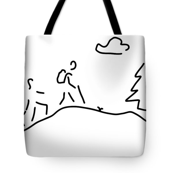 Walk Walking Wandering Tote Bag