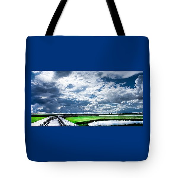 Walk With Me In The Sky Tote Bag