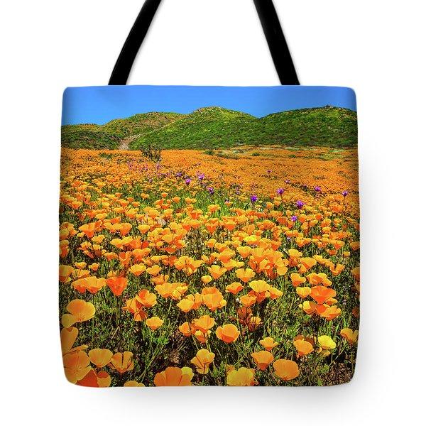 Walker Canyon Wildflowers Tote Bag