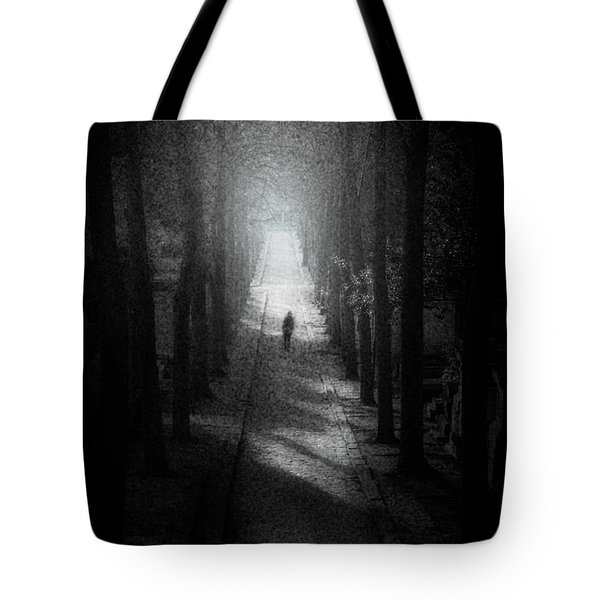 Walking Alone Tote Bag by Celso Bressan