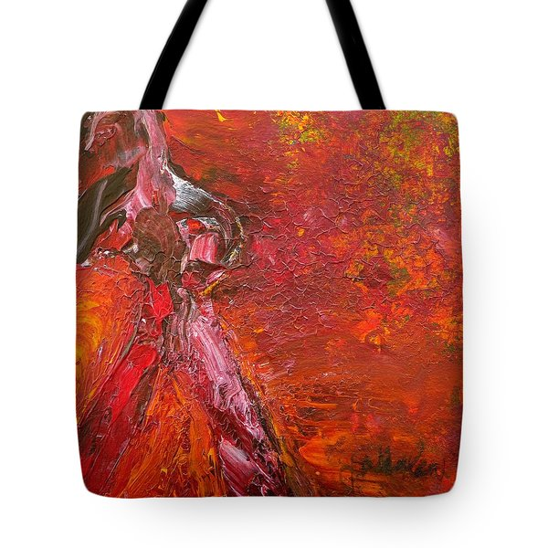 Tote Bag featuring the painting Walking Away by Jim Whalen