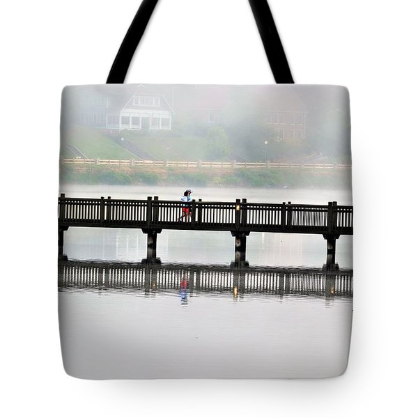 Walking Bridge Tote Bag
