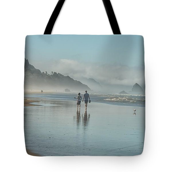 Walking Cannon Beach Tote Bag