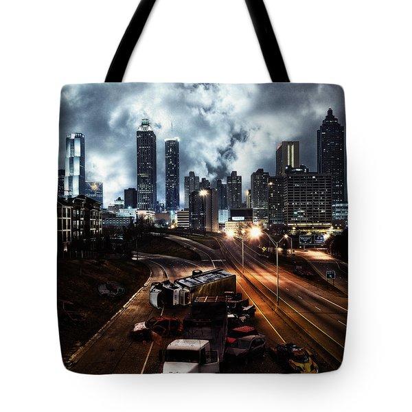 Walking Dead Tribute Downtown Atlanta Georgia  Tote Bag