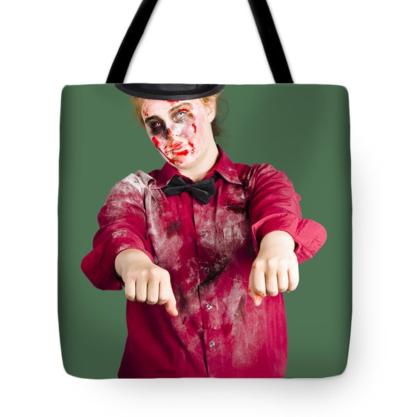 Walking Dead Zombie Woman Tote Bag