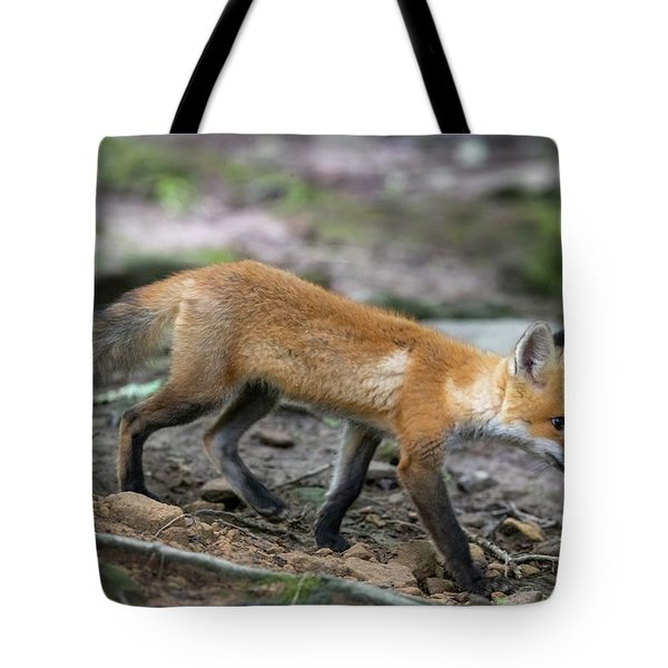 Walking Down The Hill Tote Bag