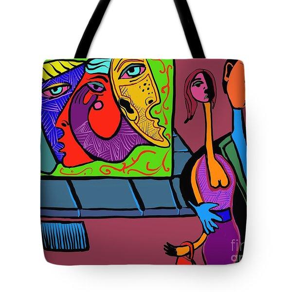 Walking Home Tote Bag by Hans Magden