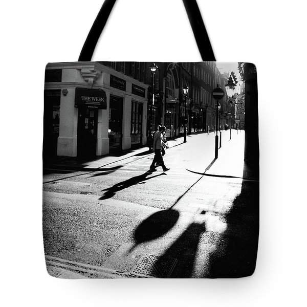 Tote Bag featuring the photograph Walking In London by Lora Lee Chapman