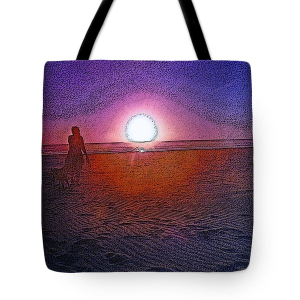 Walking In The Glow Tote Bag
