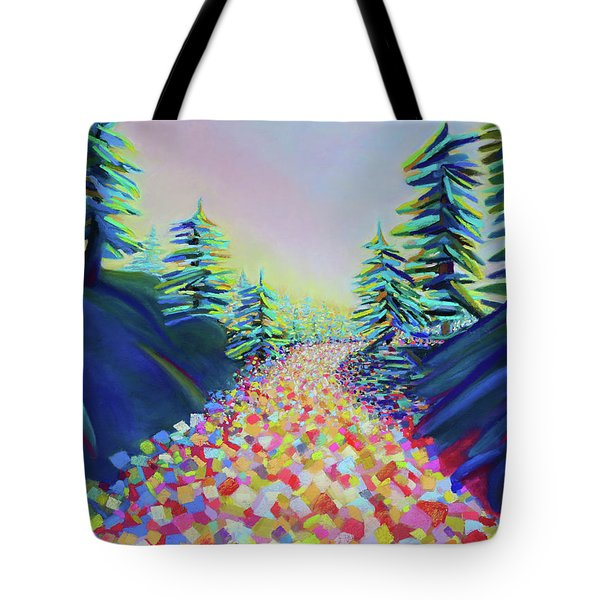 Walking In The Light Tote Bag