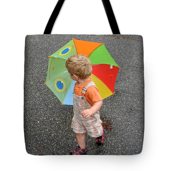 Walking In The Rain Tote Bag by Sami Martin