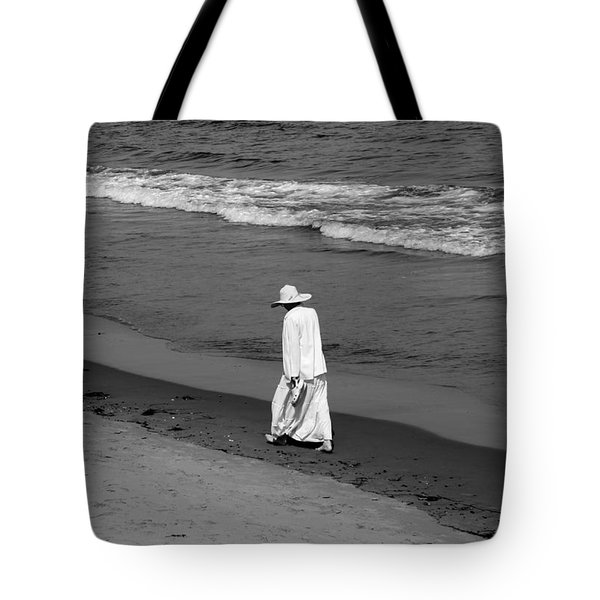 Walking In The  Sand Tote Bag