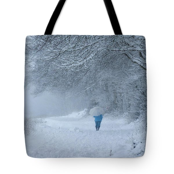 Walking In The Snow Tote Bag