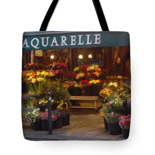 Walking In The Streets Of Paris. Aquarelle Montparnasse Tote Bag