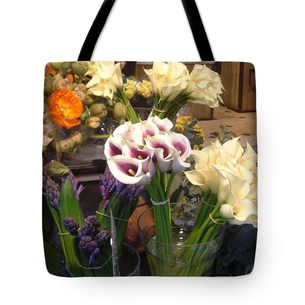 Walking In The Streets Of Paris. Flowers In Montparnasse  Tote Bag