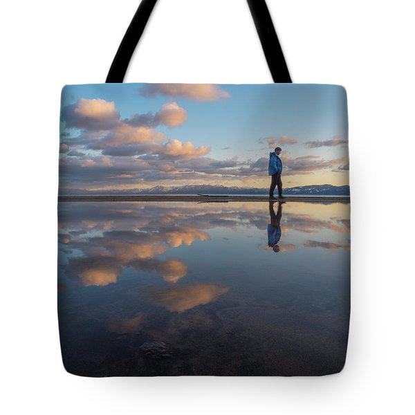 Walking In The Sunset Tote Bag