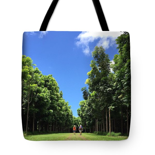 Walking Into The Woods Tote Bag