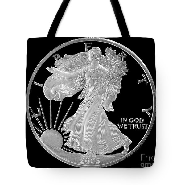 Walking Liberty Proof Silver Dollar Tote Bag by Randy Steele