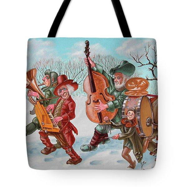 Walking Musicians Tote Bag