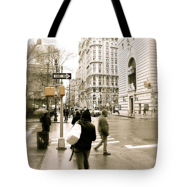 Walking New York Tote Bag by Michael Peychich