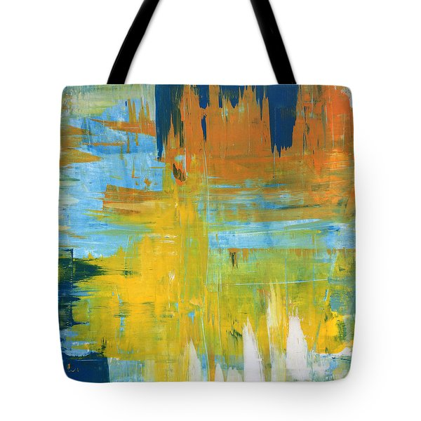 Walking On Sunshine - 48x48 Huge Original Painting Art Abstract Artist Tote Bag