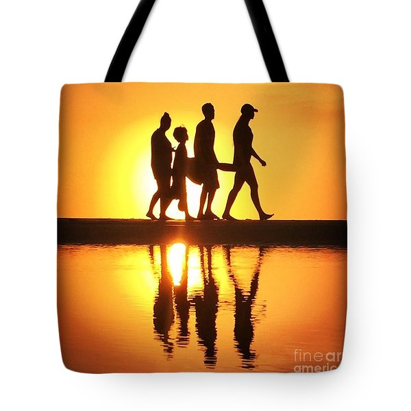 Tote Bag featuring the photograph Walking On Sunshine by LeeAnn Kendall