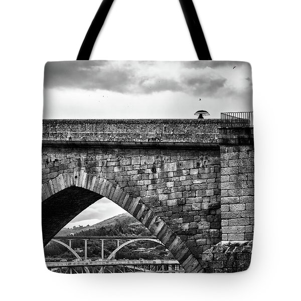Walking On The Roman Bridge Tote Bag