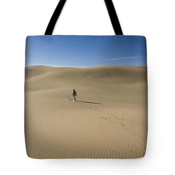 Walking On The Sand Tote Bag