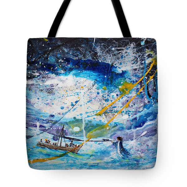 Walking On The Water Tote Bag by Kume Bryant