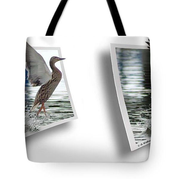 Walking On Water - Gently Cross Your Eyes And Focus On The Middle Image Tote Bag by Brian Wallace