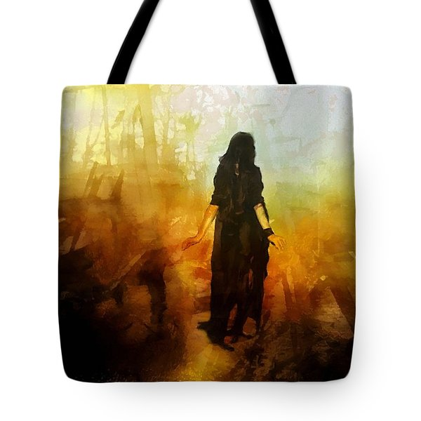 Walking Out From Chaos Tote Bag