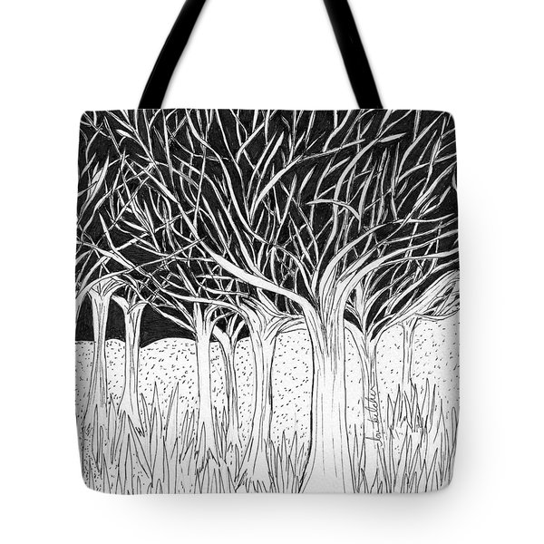 Walking Out Of The Woods Tote Bag
