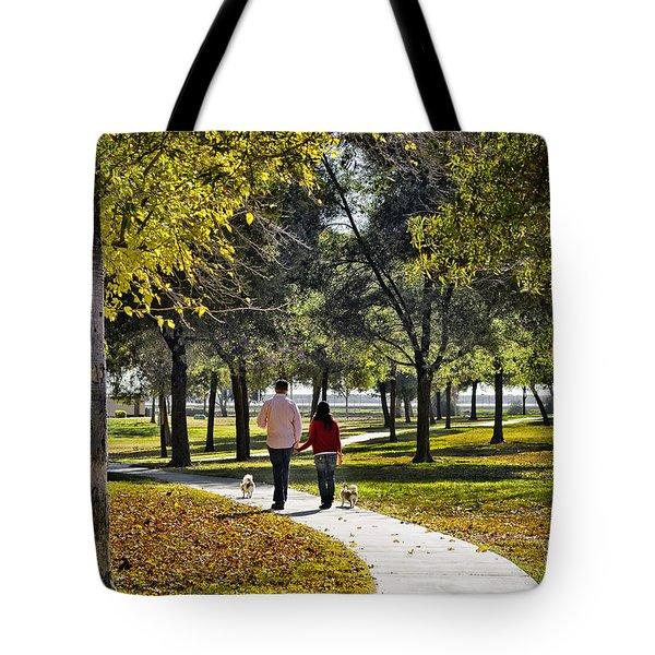 Walking Park Tote Bag