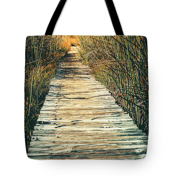 Tote Bag featuring the photograph Walking Path by Alexey Stiop