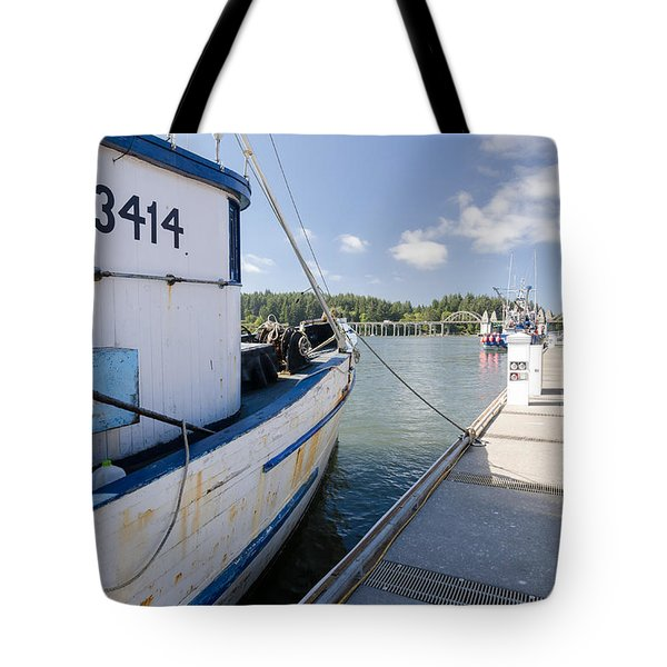 Walking The Docks Tote Bag