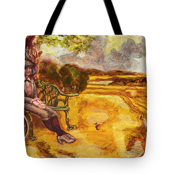 Walking The Dog After Gainsborough Tote Bag by Mark Jones