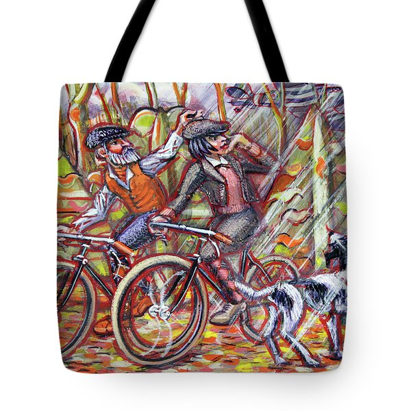 Walking The Dog 2 Tote Bag