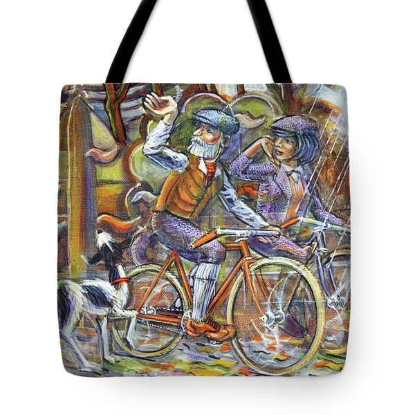 Walking The Dog 3 Tote Bag
