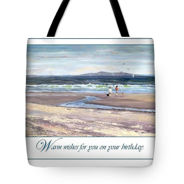 Walking The Dogs Nantasket Tote Bag by Laura Lee Zanghetti