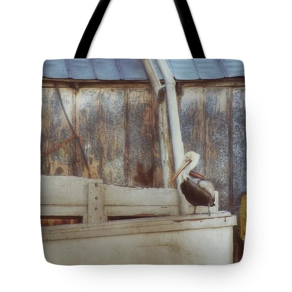 Tote Bag featuring the photograph Walking The Plank by Benanne Stiens