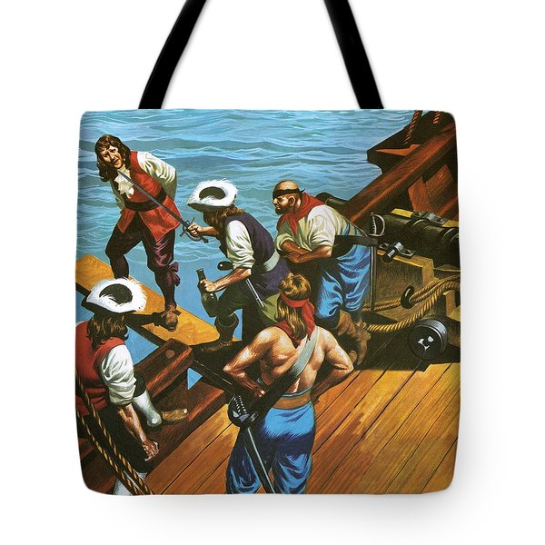 Walking The Plank Tote Bag