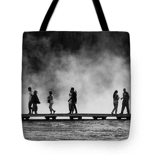 Tote Bag featuring the photograph Walking The Thermals Pano by Lon Dittrick
