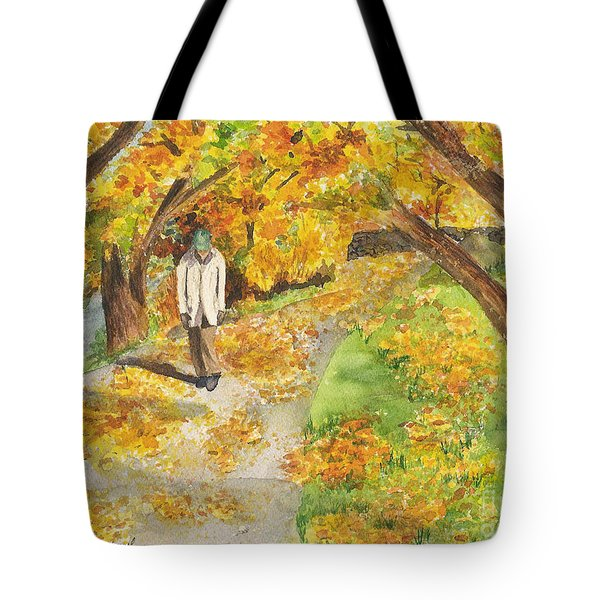 Walking The Truckee River Tote Bag