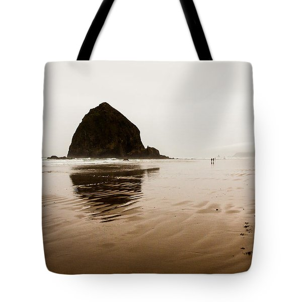 Walking The Wet Sand Tote Bag
