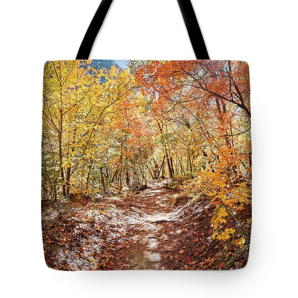 Walking Through A Bigtooth Maple Forest In Mckittrick Canyon - Guadalupe Mountains National Park  Tote Bag