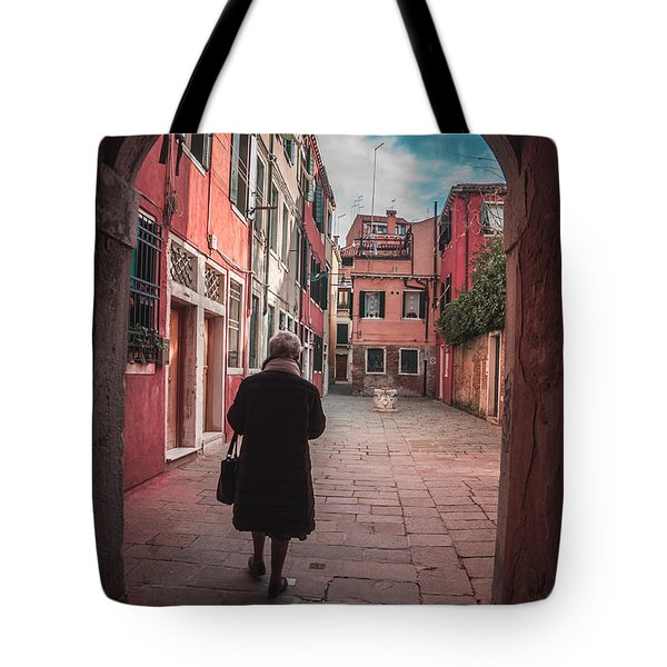 Walking Through Time - Venice, Italy Tote Bag