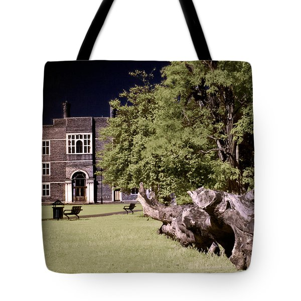 Tote Bag featuring the photograph Walking To The Library by Helga Novelli
