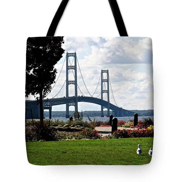 Walking To The Bridge Tote Bag